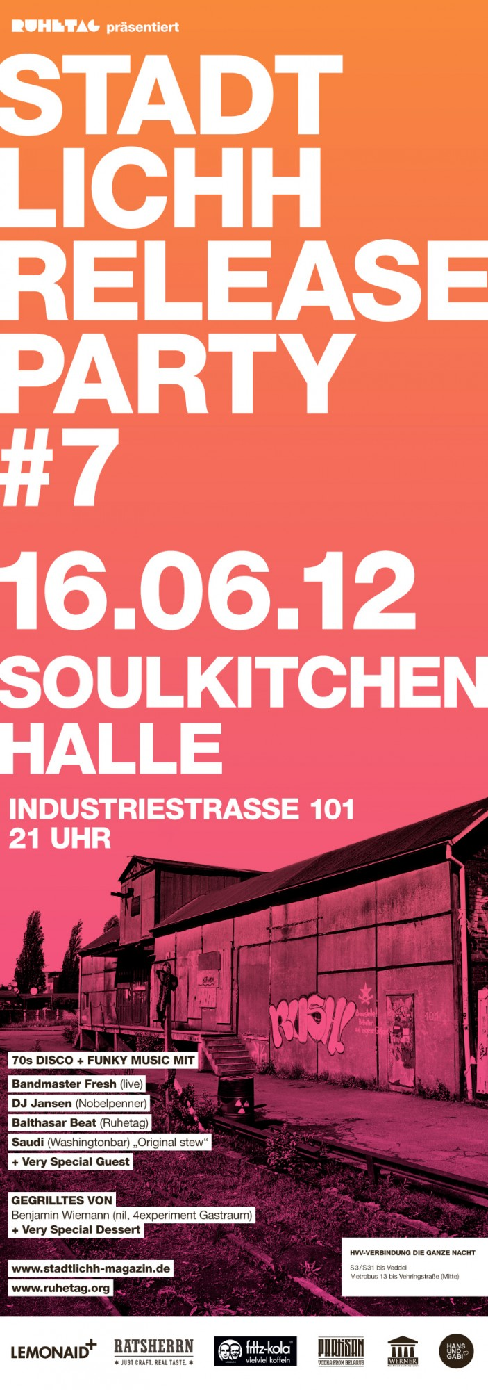 Stadtlichh Release Party in der Soul Kitchen Halle